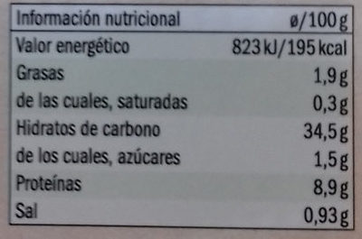 Tortelloni rellenos Mijo, espinacas, tofu y seitán - Información nutricional