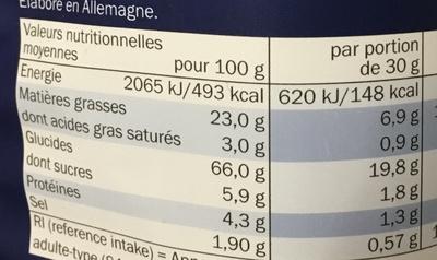 Vampire salé - Informations nutritionnelles - fr