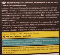Saumon Atlantique Fumé Enrobé de Poivre - Ingrediënten