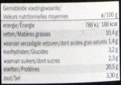 Saumon Atlantique Fumé Enrobé de Poivre - Voedigswaarden