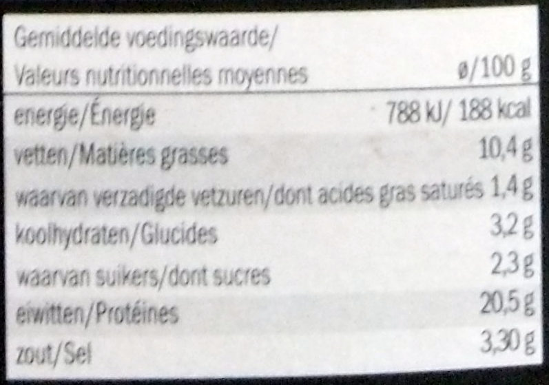 Saumon Atlantique Fumé Enrobé de Poivre - Nutrition facts - fr