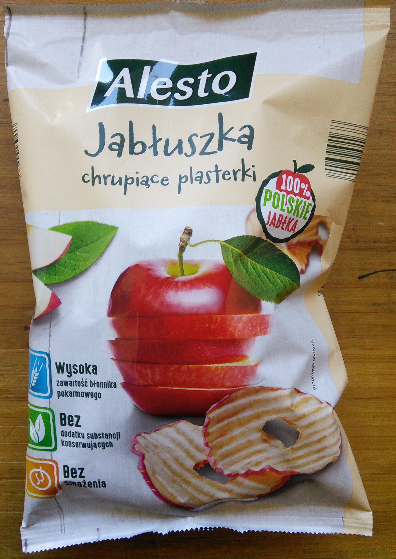 Alesto Jabłuszka Chrupiące plasterki - Product - pl