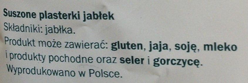Alesto Jabłuszka Chrupiące plasterki - Ingredients - pl