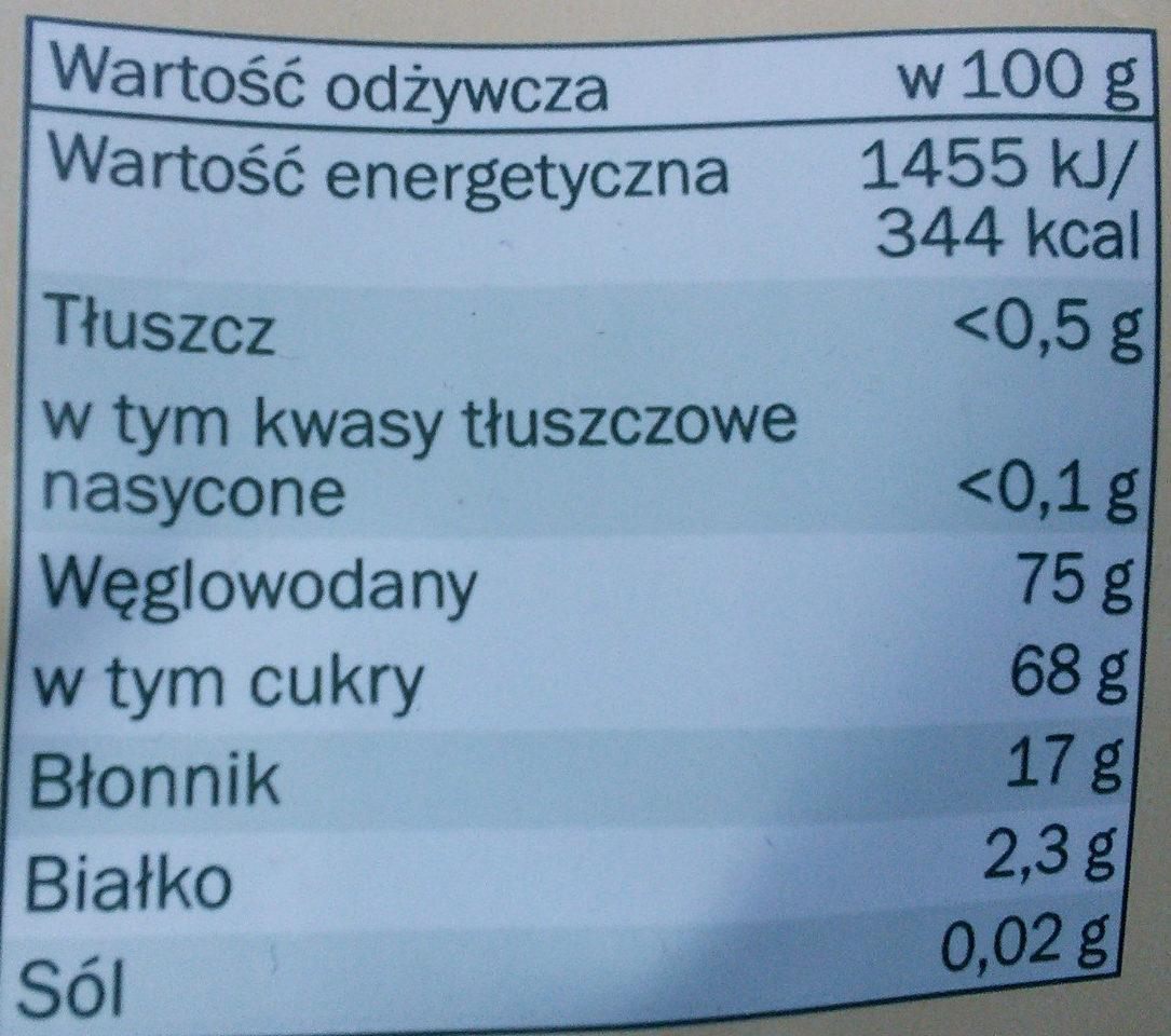 Alesto Jabłuszka Chrupiące plasterki - Nutrition facts - pl