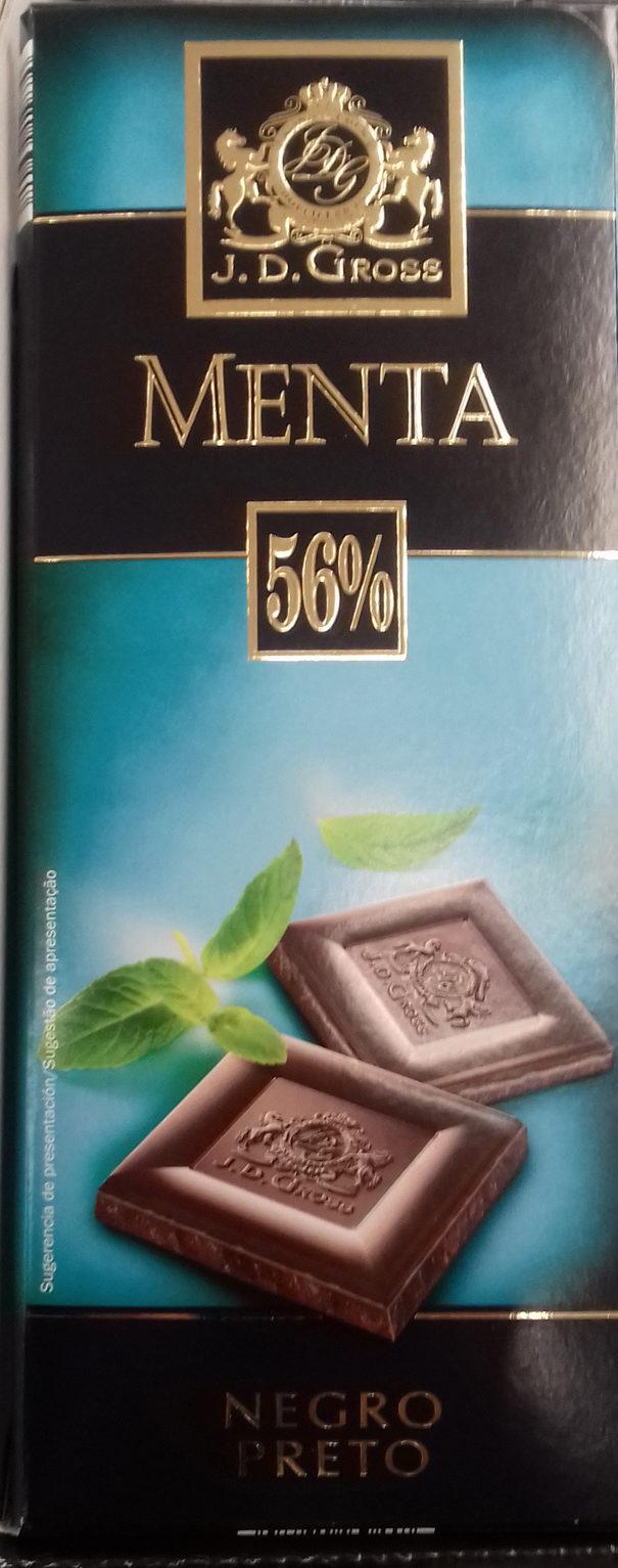 Chocolate negro Menta 56% - Producto