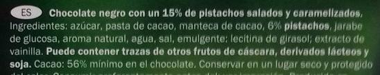 Pistaches caramélisées - Ingredientes