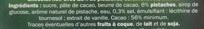 Pistaches caramélisées - Ingrediënten