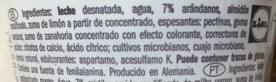 Milbona Skyr - Ingredientes
