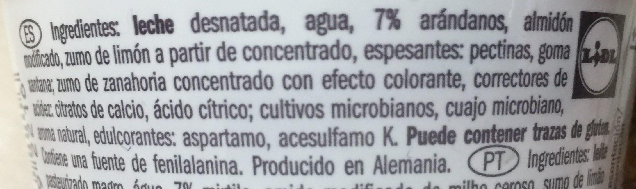 Skyr myrtilles - Ingredienti - es