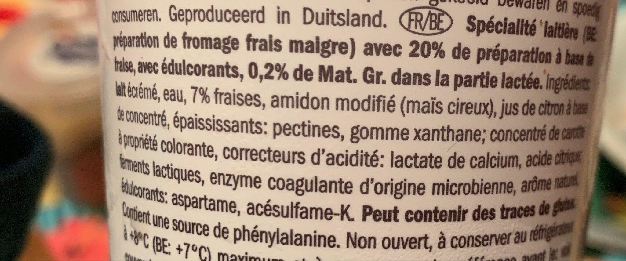 Skyr Erdbeere - Ingrédients - fr