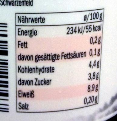 Skyr Erdbeere - Informations nutritionnelles - de
