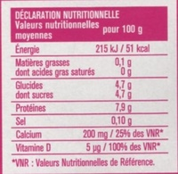 Envia light - Nutrition facts - fr