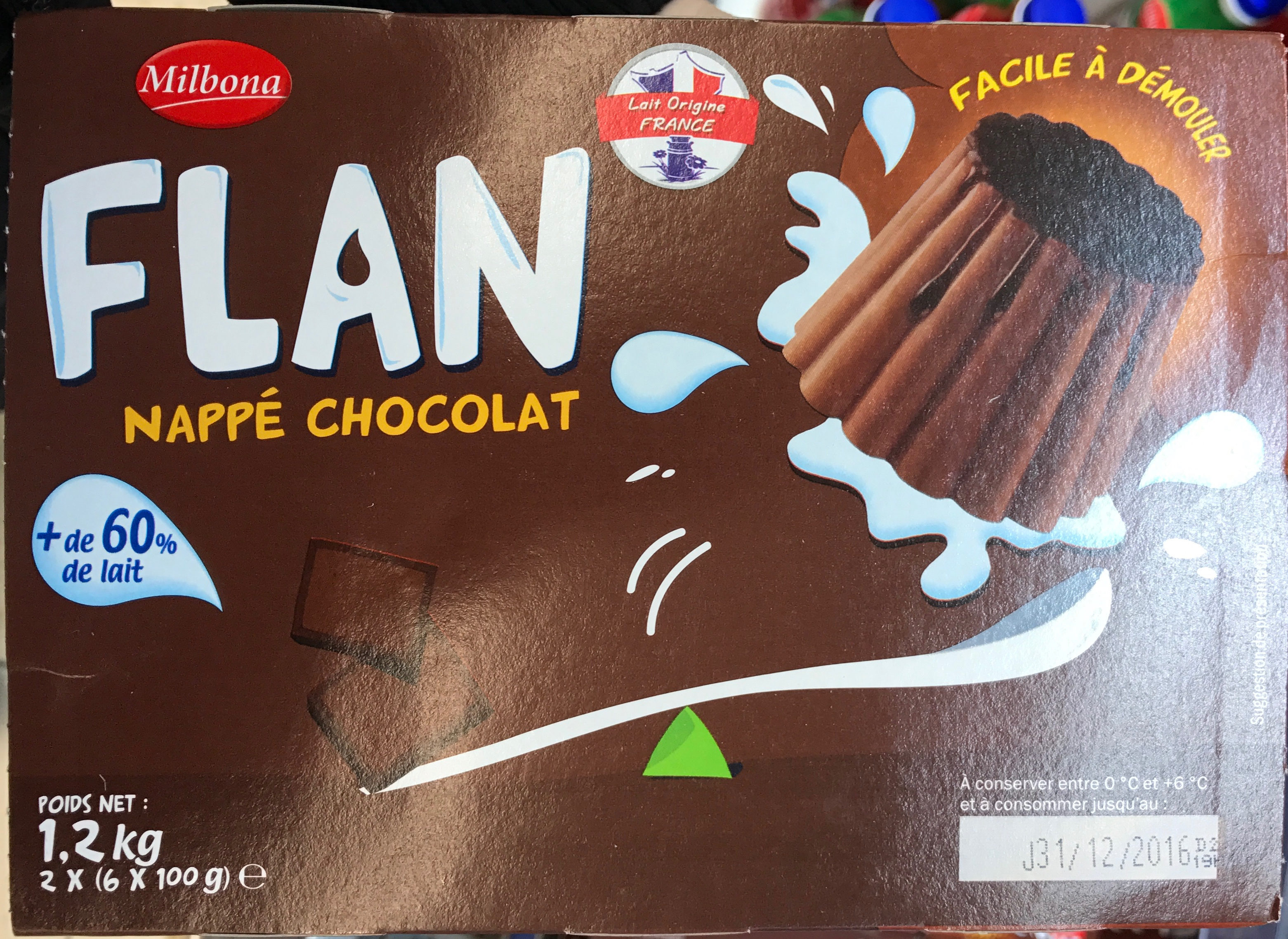 Flan nappé Chocolat - Product - fr