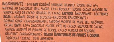 Flan nappé Chocolat - Ingredients - fr