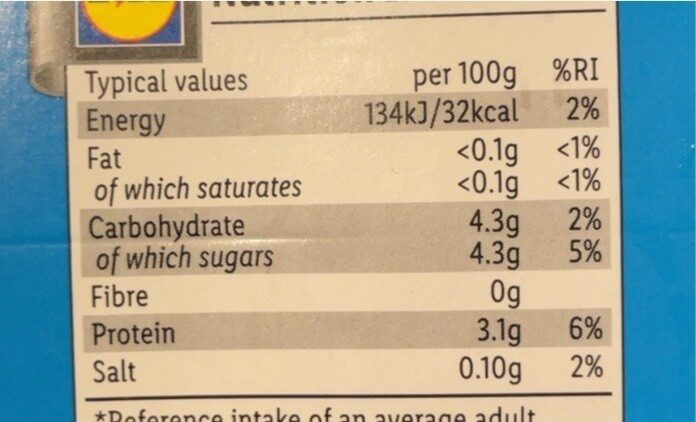 Proviact original - Informations nutritionnelles - fr