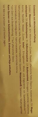 Croissants, Milchcreme - Ingrédients - de
