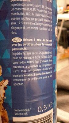 Iced Tea Lemon - Ingrédients - fr