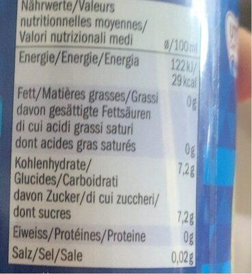 Iced Tea Lemon - Informations nutritionnelles - en