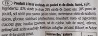 Hot dog de volaille - Ingredients