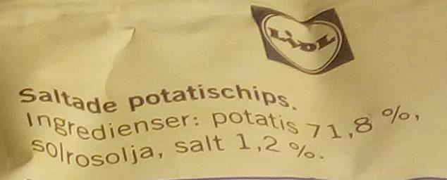 Crusti Croc Extra krispiga chips Lätt saltade - Ingredients