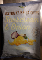 Crusti Croc Extra krispiga chips Sourcream & Onion - Product