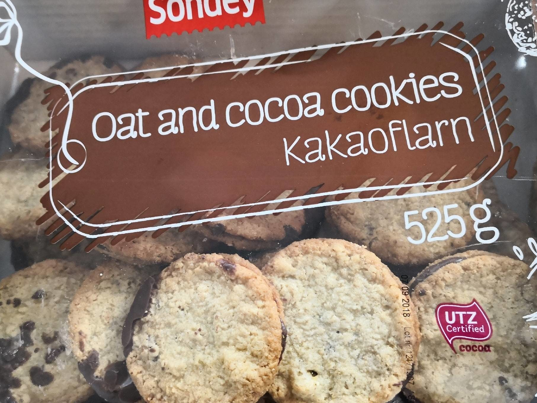 Oat and cocoa cookies - Produit