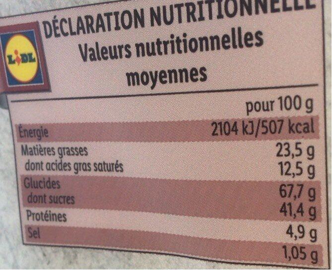 Haferkekse Schoko - Nutrition facts - nl