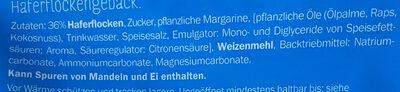Haferflockengebäck - Inhaltsstoffe - de