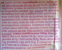 Naturelcakejes - Ingrediënten