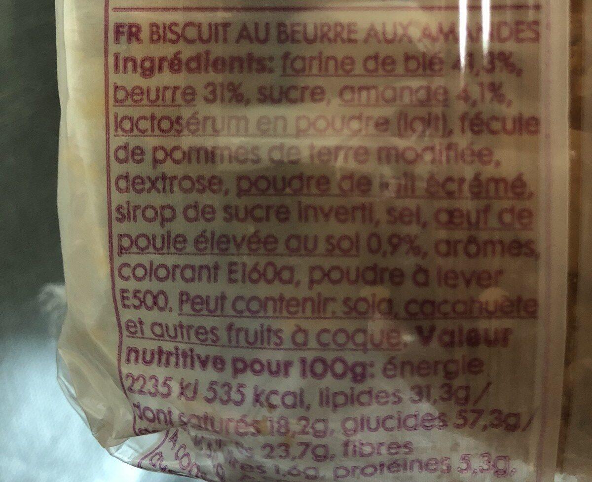 Biscuit au beurre et amandes - Ingrédients