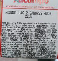 Rosquillas 2 sabores - Nutrition facts - es