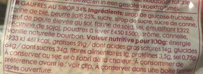Gauffres Hollandaises au beurre caramel - Ingrediënten