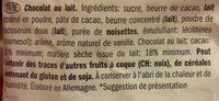 Milk chocolate figures - Ingrédients - fr