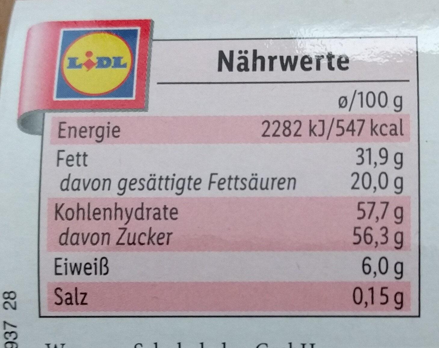 Milk chocolate figures - Informations nutritionnelles - fr