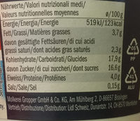 Yoghurt typ Apple Pie - Informations nutritionnelles - de