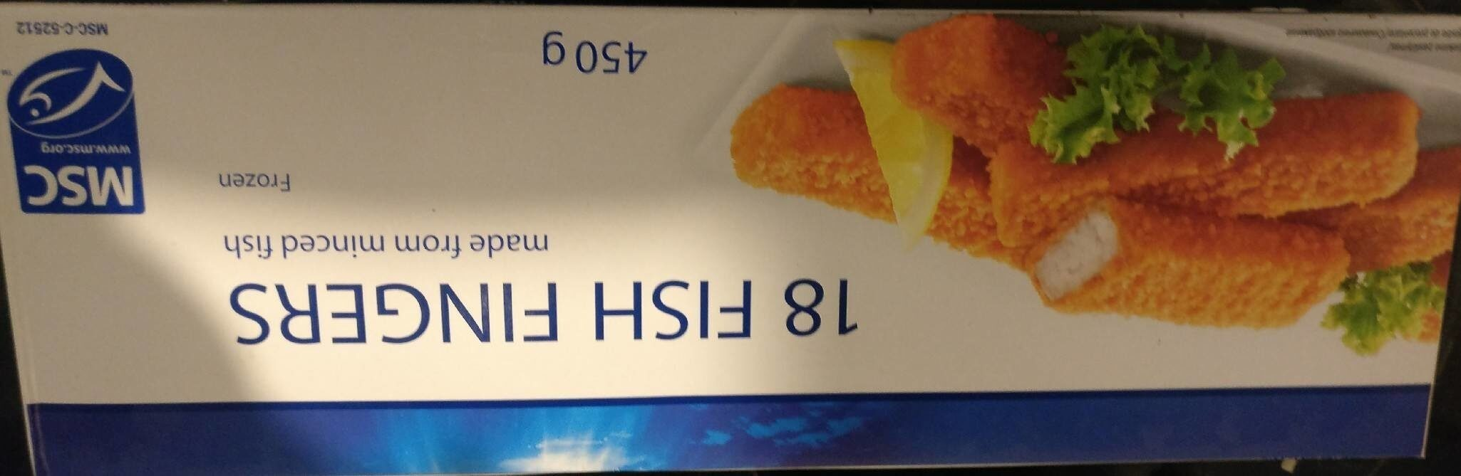Greenland Seafood 18 Fish Fingers made from minced fish - Produit - fr