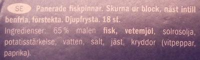 Fish fingers bâtonnets de poisson - Ingredients