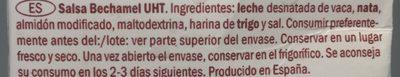 Bechamel - Ingredientes - fr