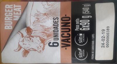 burger meat vacuno - Producto