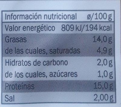 burger meat vacuno - Información nutricional