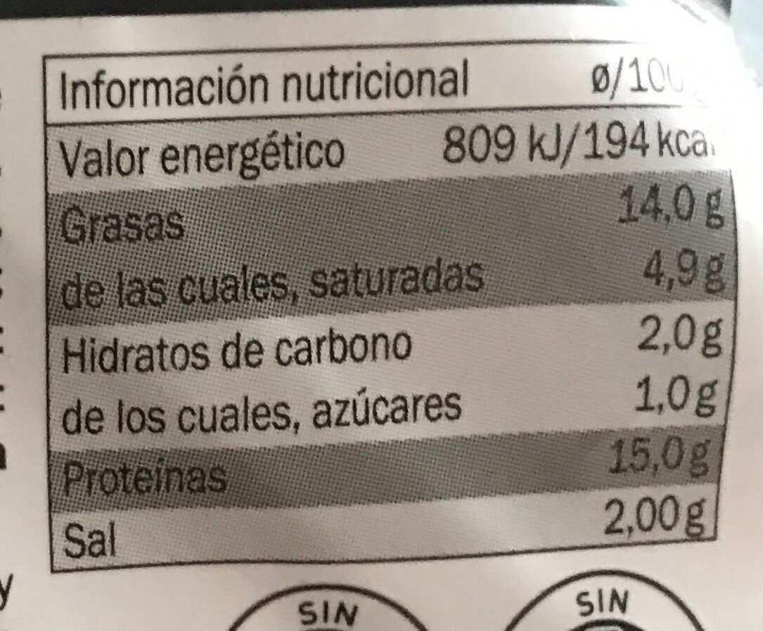Burguer Meat de vacuno - Хранителна информация - es