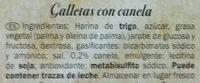 Galletas Indianas con canela - Inhaltsstoffe - es