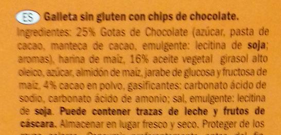 Biscuit au cacao Sans gluten - Ingredients - es