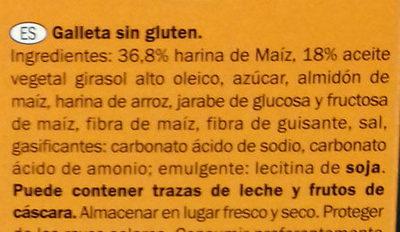 Galletas María sin gluten - Ingredients