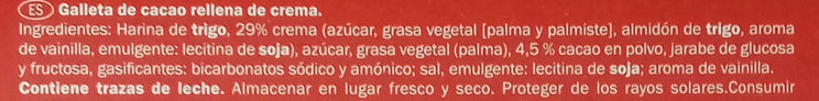 Galletas Neo - Ingrediënten - es