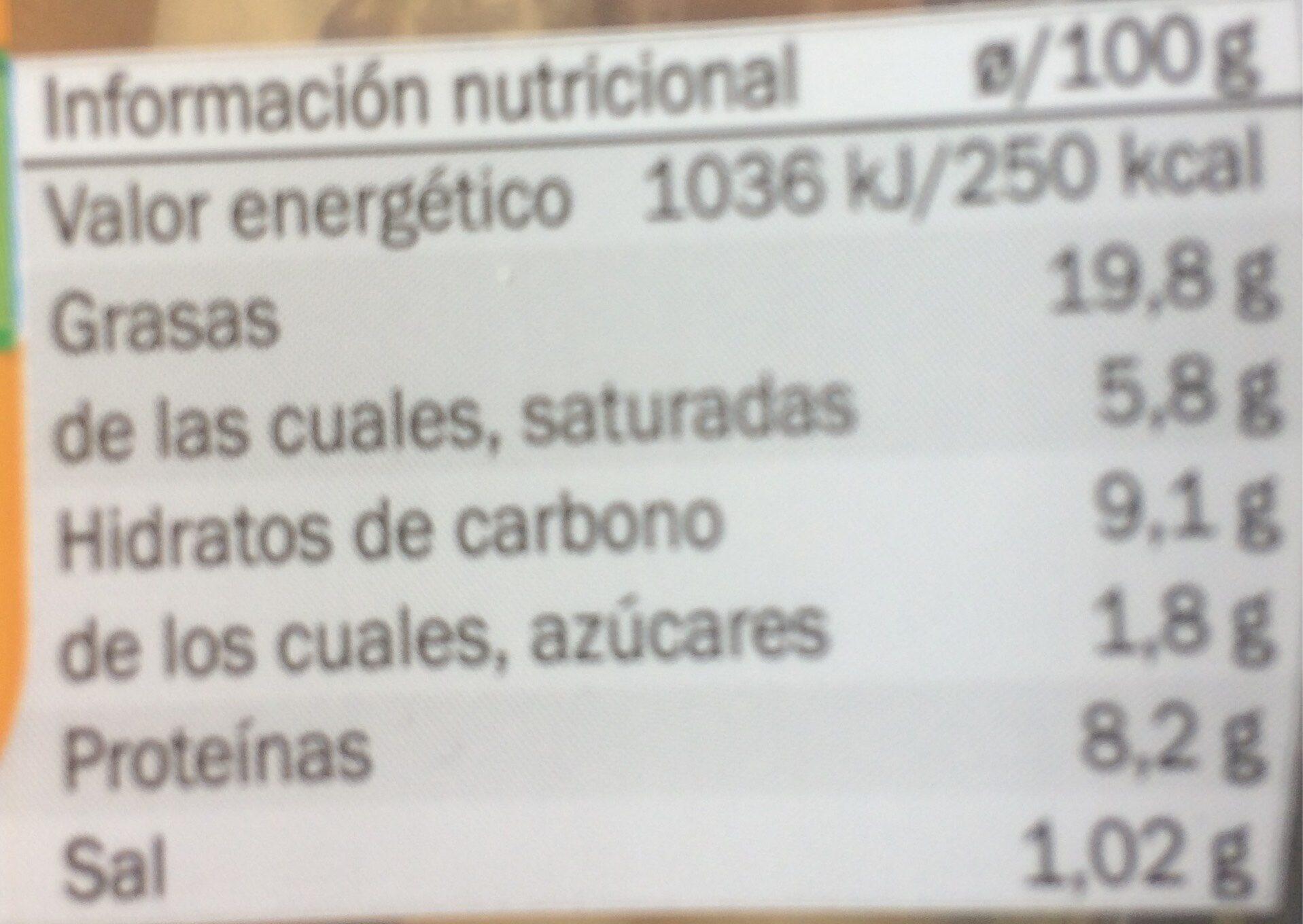 Cesar con pollo y queso - Voedingswaarden - es
