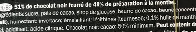 Chocolate de menta - Ingredients - fr