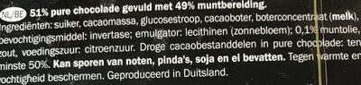 Chocolate de menta - Ingrediënten - nl