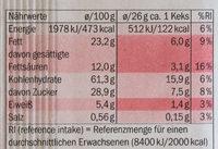 Grandino Soft Baked Triple Choc - Nutrition facts