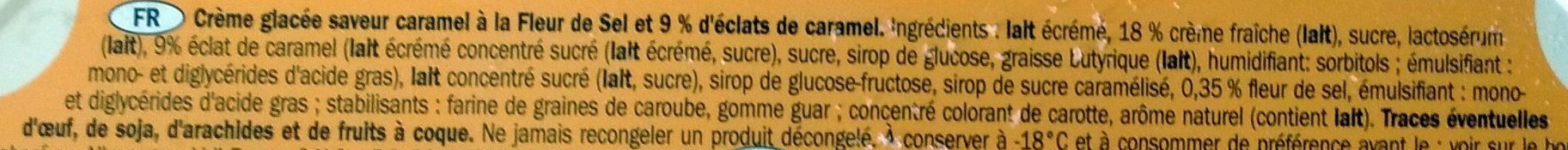 Premium Salted Caramel - Ingredients